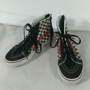 Vans High Top Checkered Black and White - Kids 4.5